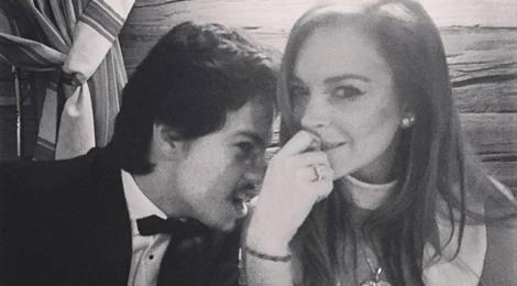 Lindsay Lohan hen ho thieu gia nguoi Nga hinh anh