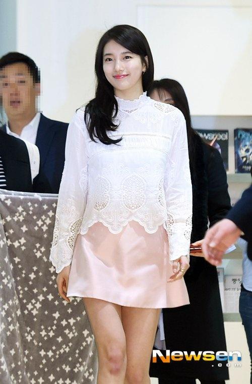 Suzy khoe lan da cang bong o su kien hinh anh 1