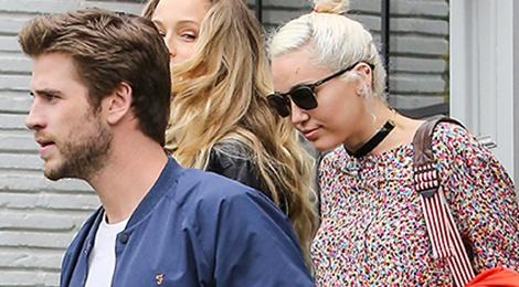 Miley va Liam lan dau xuat hien cong khai sau khi tai hop hinh anh