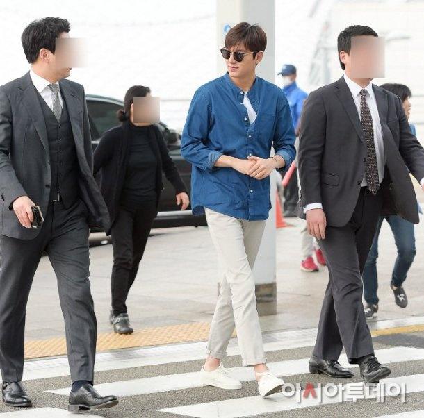 Lee Min Ho va sao 'Hau due mat troi' do thoi trang san bay hinh anh 5