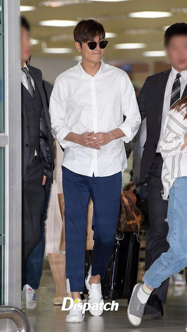 Lee Min Ho va sao 'Hau due mat troi' do thoi trang san bay hinh anh 3