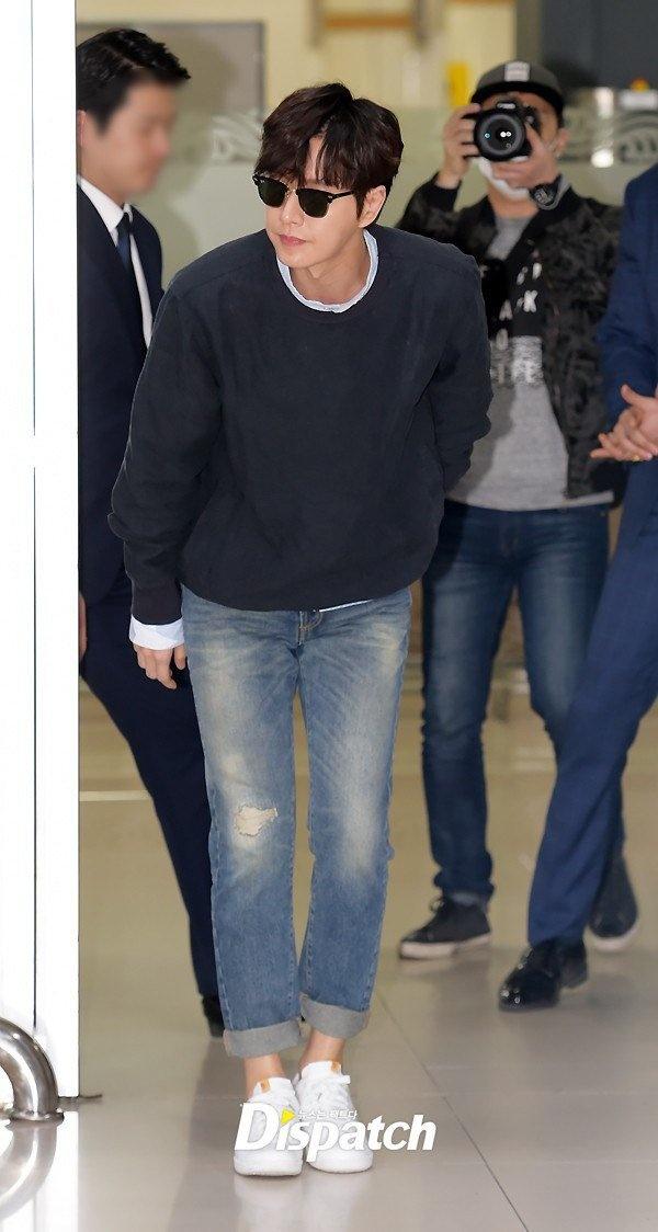 Lee Min Ho va sao 'Hau due mat troi' do thoi trang san bay hinh anh 2