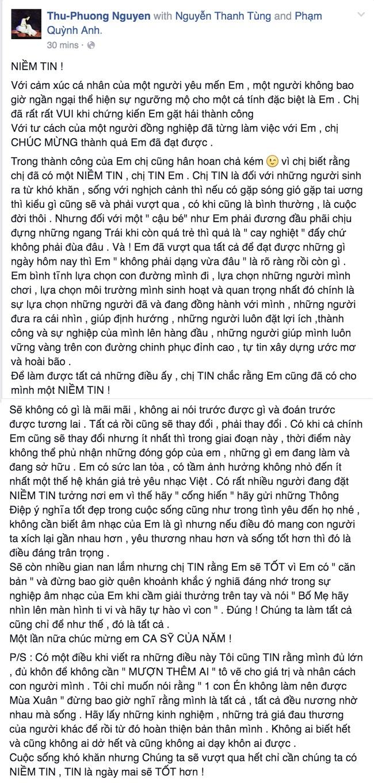 Thu Phuong khen Son Tung M-TP 'khong phai dang vua dau' hinh anh 2
