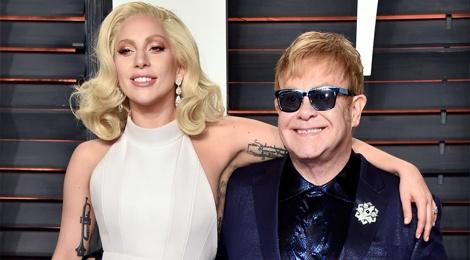 Lady Gaga thiet ke thoi trang cung Elton John hinh anh