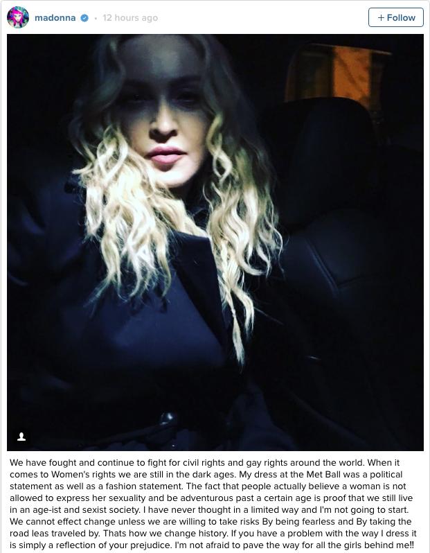 Madonna phan phao khi bi che phan cam o 'Oscar thoi trang' hinh anh 2