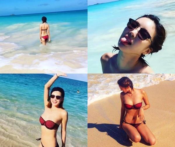 Loat my nhan Han khoe dang bikini ngay he hinh anh 2