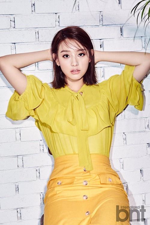 'Trung uy' Kim Ji Won khoe ve yeu kieu hinh anh 4