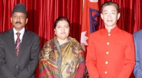 Luc Tieu Linh Dong dien kien Tong thong Nepal hinh anh