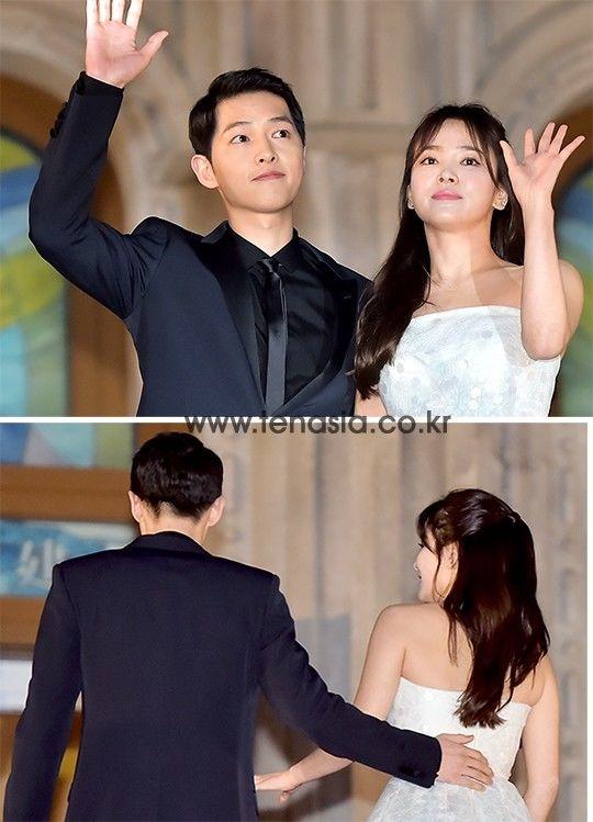 Khoanh khac Song Joong Ki am tham nam tay Hye Kyo gay chu y hinh anh 3