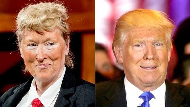 Nguoi phu nu vang Hollywood hoa than Donald Trump hinh anh
