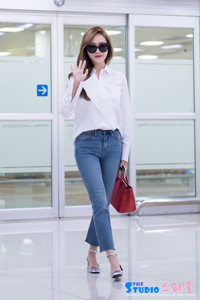 Jessica Jung nghien combo so mi – jeans hinh anh 2