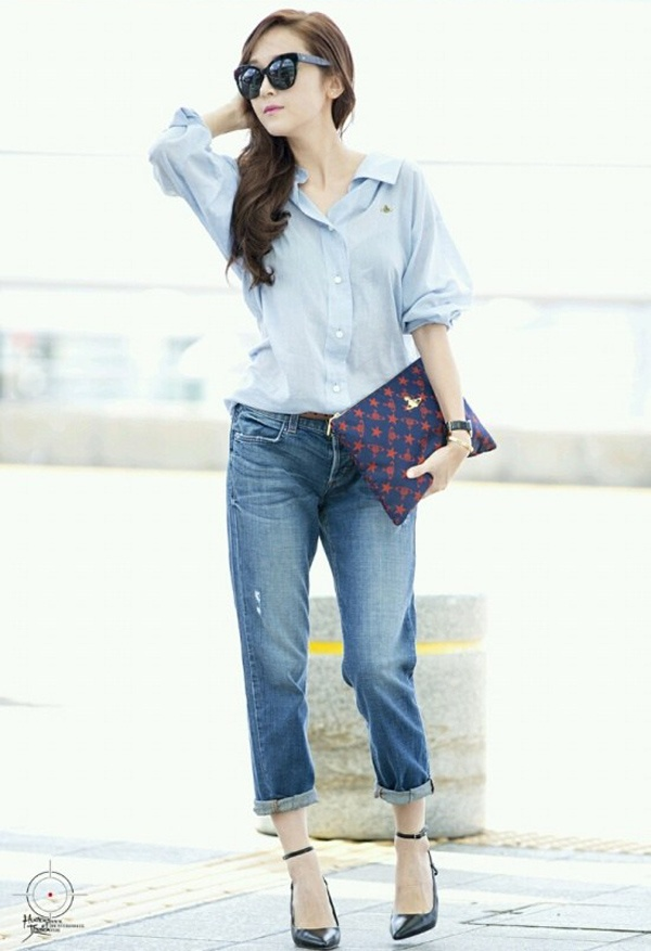 Jessica Jung nghien combo so mi – jeans hinh anh 4