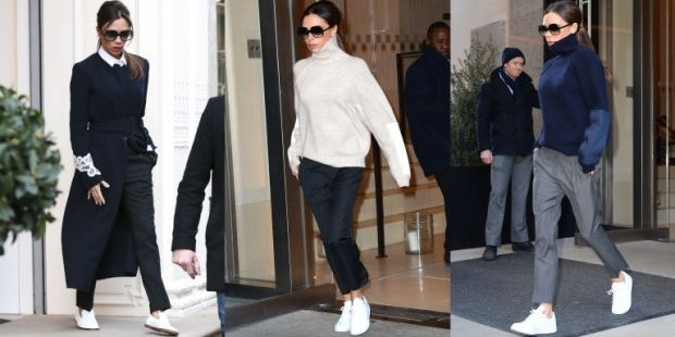 Victoria Beckham gay hieu ung thoi trang vi di sneaker hinh anh 2