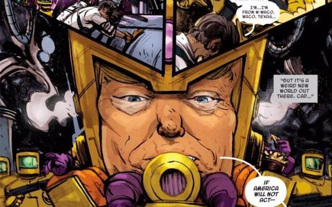 Donald Trump tro thanh sieu ac nhan o truyen tranh Marvel hinh anh