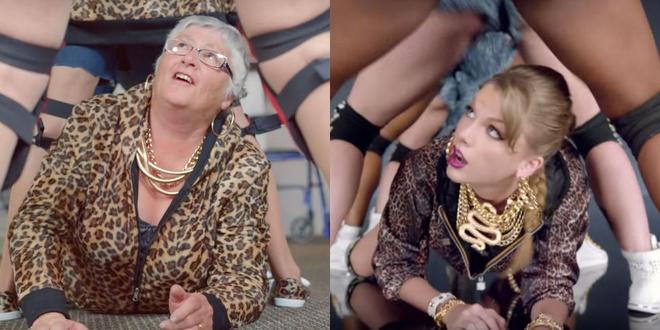 Nhom 'bo lao' 80 tuoi lam nhai MV 'Shake It Off' hinh anh