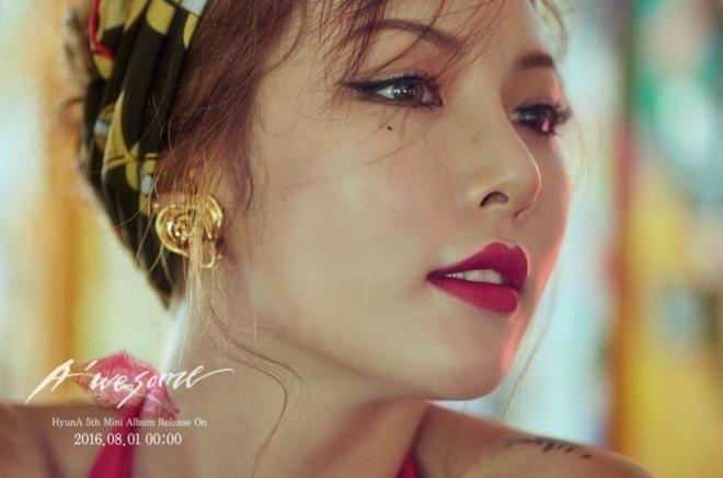 HyunA nong bong tren bia dia album moi hinh anh 5