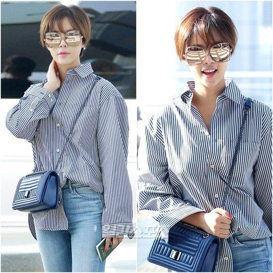 Yoona do thoi trang san bay voi sao 'Gia dinh la so 1' hinh anh 6