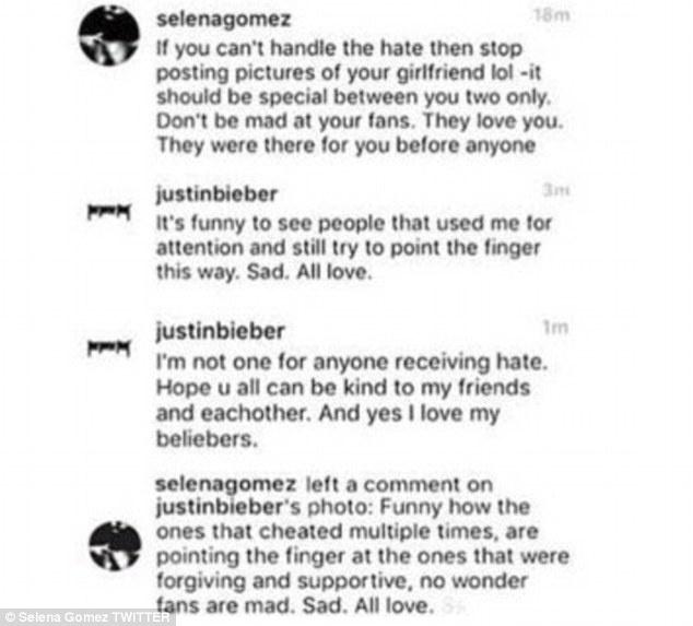 Justin va Selena to cao nhau ngoai tinh anh 3