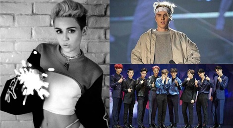 Dai chien giua fan Miley Cyrus - EXO – Justin Bieber hinh anh