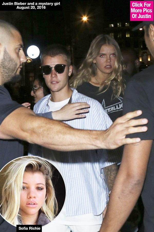 Justin Bieber lai bi bat gap cap ke gai la o London anh 1
