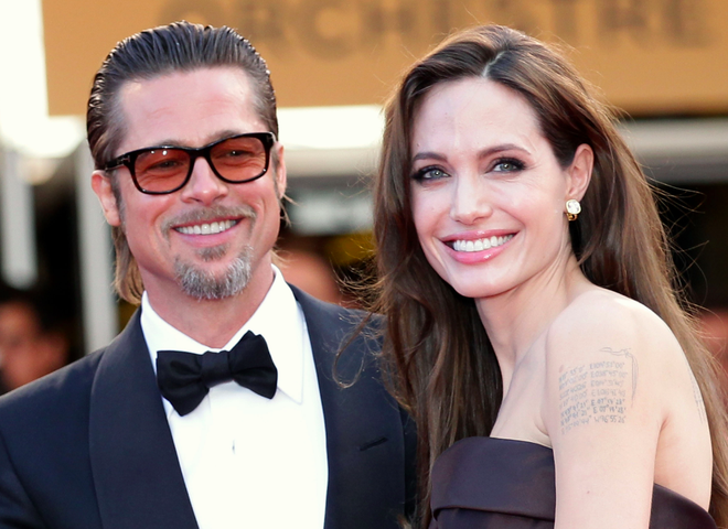 Brad Pitt va Angelina Jolie hanh phuc ky niem ngay cuoi anh 1