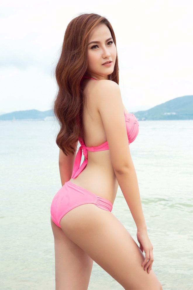 Khanh Ngan The Face lot xac quyen ru voi bikini anh 4