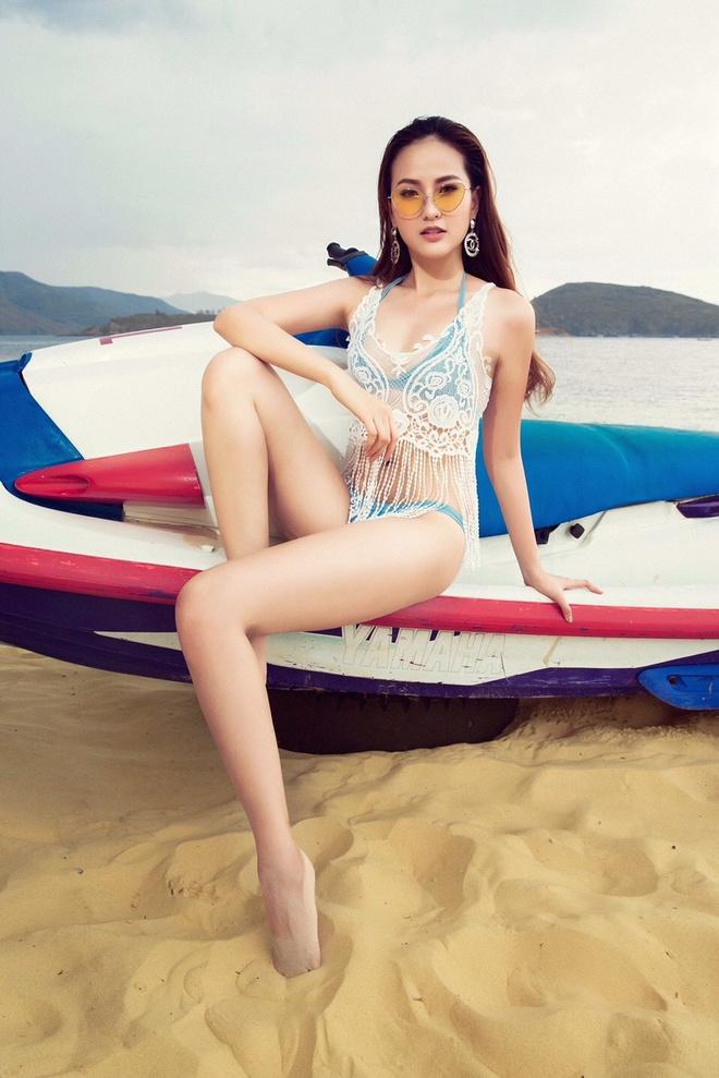 Khanh Ngan The Face lot xac quyen ru voi bikini anh 8