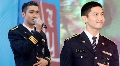 Choi Si Won va Changmin hat trong quan phuc nguoi linh hinh anh