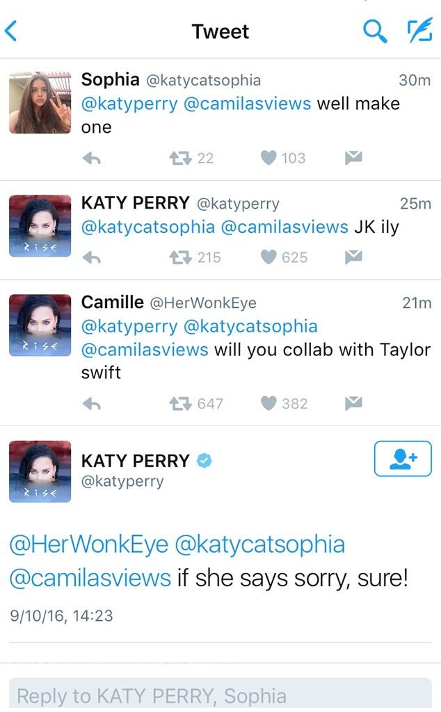 Katy Perry se bat tay hop tac neu Taylor Swift anh 1