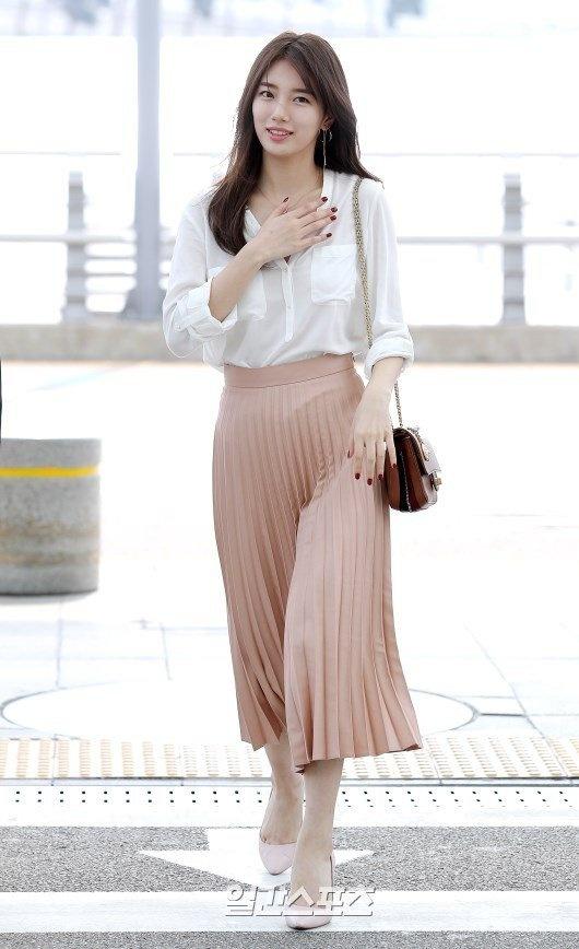 Jun Ji Hyun va Suzy do thoi trang sanh dieu o san bay hinh anh 4