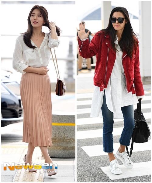 Jun Ji Hyun va Suzy do thoi trang sanh dieu o san bay hinh anh 7
