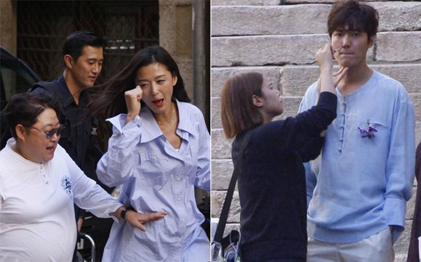 Lo anh Lee Min Ho – Jun Ji Hyun o phim truong 'Nang tien ca' hinh anh 4