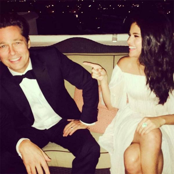 Brad Pitt bi phat hien luu anh Selena Gomez trong dien thoai hinh anh 1