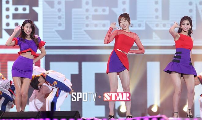 Seolhyun (AOA),  Tzuyu (Twice) va Hani (EXID) hop tac anh 4