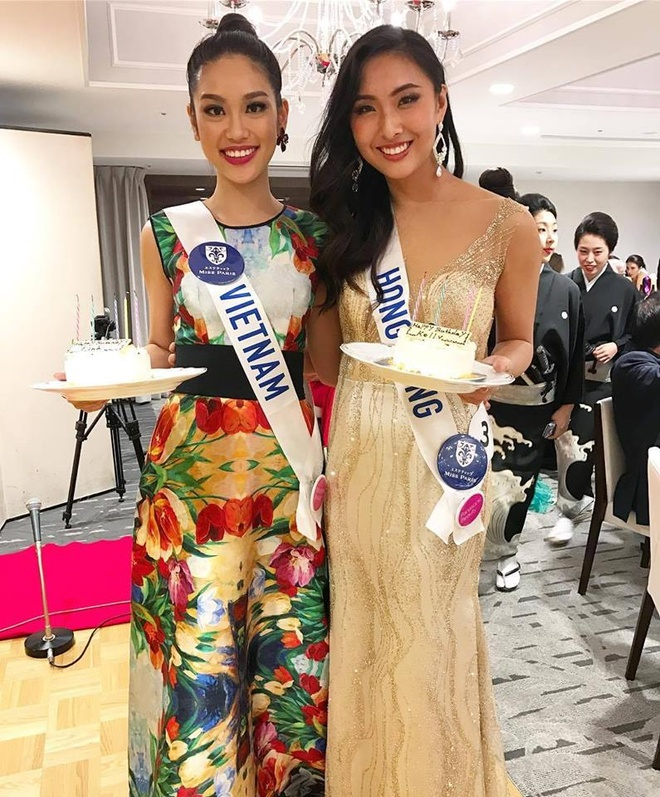 Phuong Linh duoc BTC Hoa hau Quoc te 2016 mung sinh nhat hinh anh 2