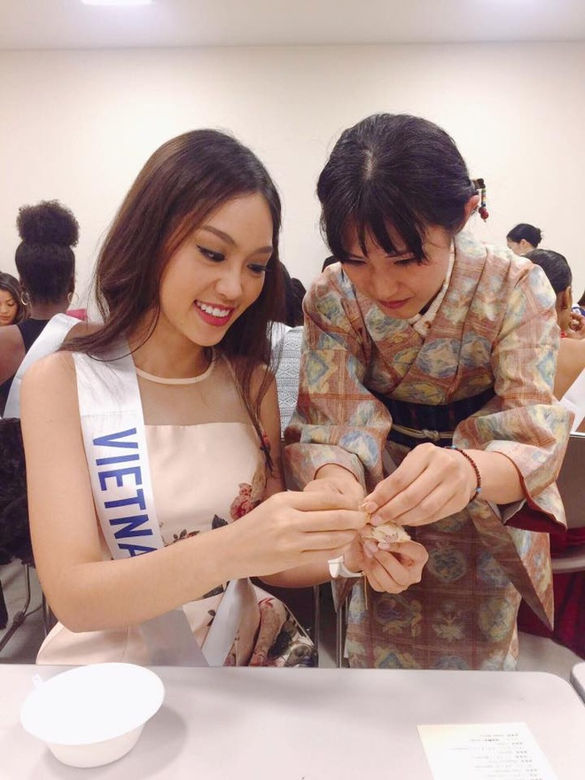 Phuong Linh duoc BTC Hoa hau Quoc te 2016 mung sinh nhat hinh anh 6