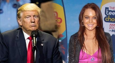 Donald Trump binh luan khiem nha ve Lindsay Lohan hinh anh