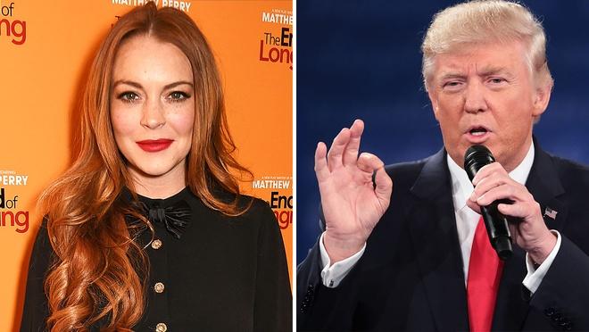 Donald Trump binh luan khiem nha ve Lindsay Lohan hinh anh 1