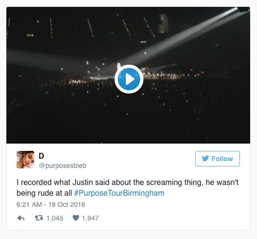 Justin Bieber ngung bieu dien de yeu cau fan im lang hinh anh 2