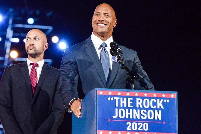 Ngoi sao co bap 'The Rock' muon tranh cu tong thong hinh anh