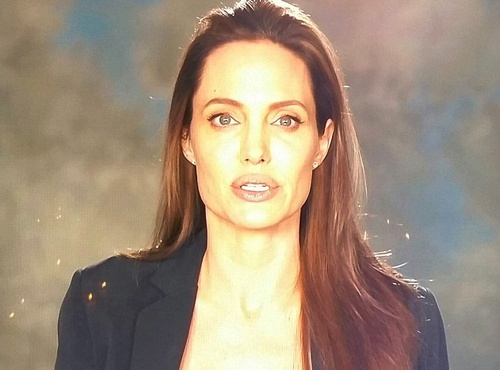 Angelina Jolie hoc hac xuat hien sau ly hon hinh anh