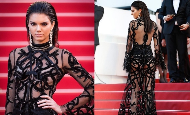Kendall Jenner dien dam xuyen thau dep nhat tham do 2016 hinh anh