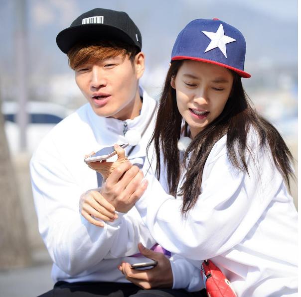 Song Ji Hyo va Kim Jong Kook roi Running Man anh 1