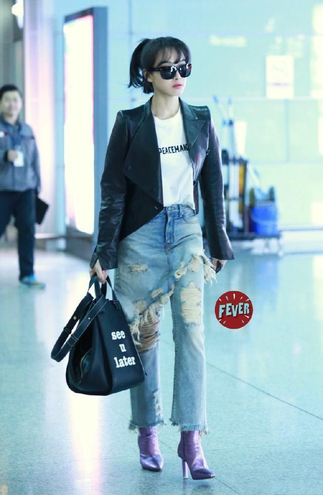 Sao Hoa ngu mac jeans rach anh 6