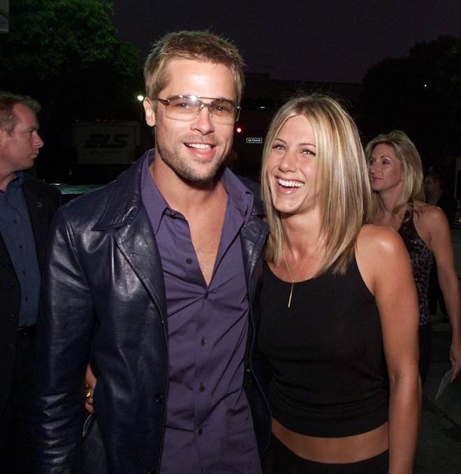 Jennifer Aniston Brad Pitt anh 1