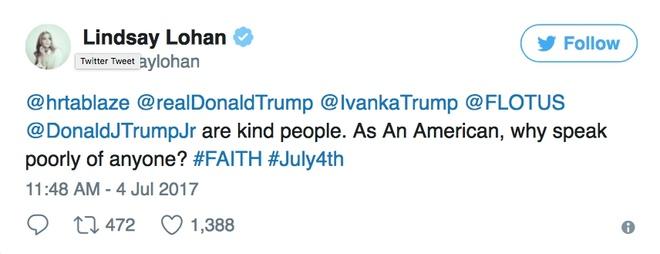 Lindsay Lohan,  Mean Girls,  benh vuc Donald Trump anh 1