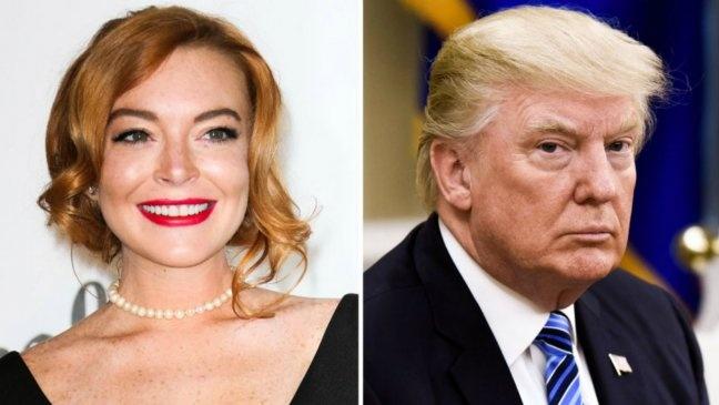 Lindsay Lohan keu goi 'ngung noi xau' Tong thong Donald Trump hinh anh