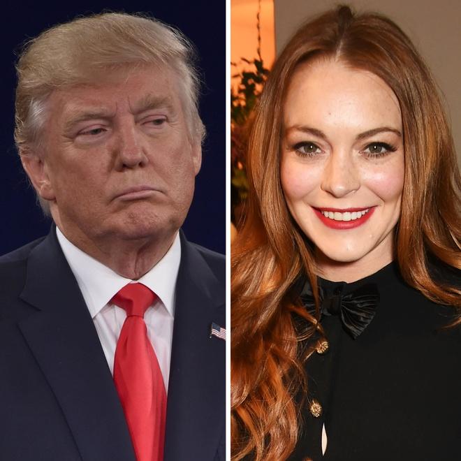 Lindsay Lohan,  Mean Girls,  benh vuc Donald Trump anh 2