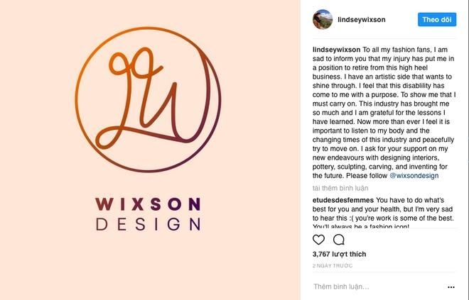 Lindsey Wixson gia tu nghe nguoi mau vi chan thuong hinh anh 2