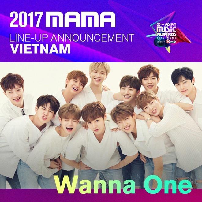 Wanna One se bieu dien tai su kien MAMA 2017 o Viet Nam hinh anh 1